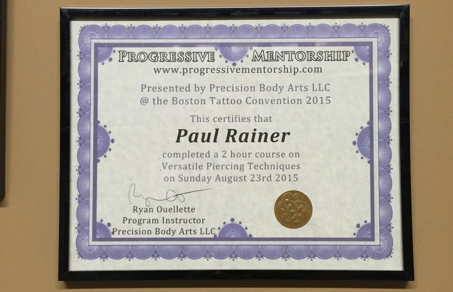 Versatile Piercing Seminar Piercings By Paul