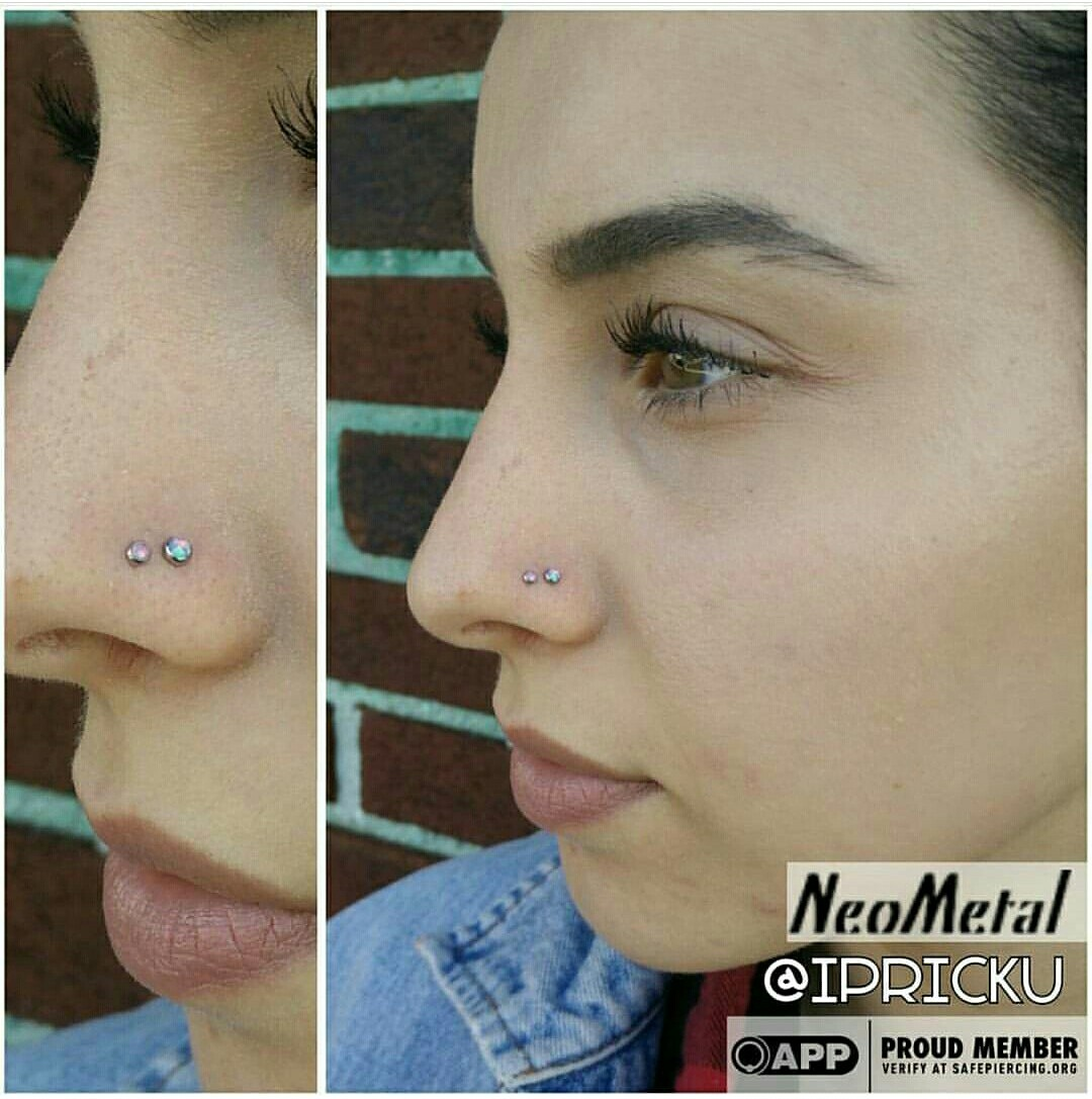 Double Nostril Piercing Piercings By Paul